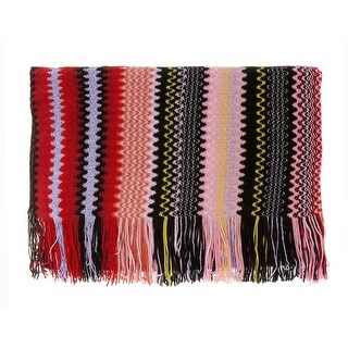 Link to Missoni Pink Long Zigzag Fringe Scarf - 20-71 Similar Items in Scarves & Wraps