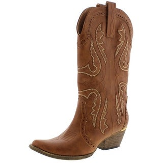 Very Volatile Womens Raspy Cowboy, Western Boots Mid Calf Pull On