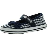 Lelli Kelly Girls Lk5260 Fashion Canvas Flats Shoes - navy check