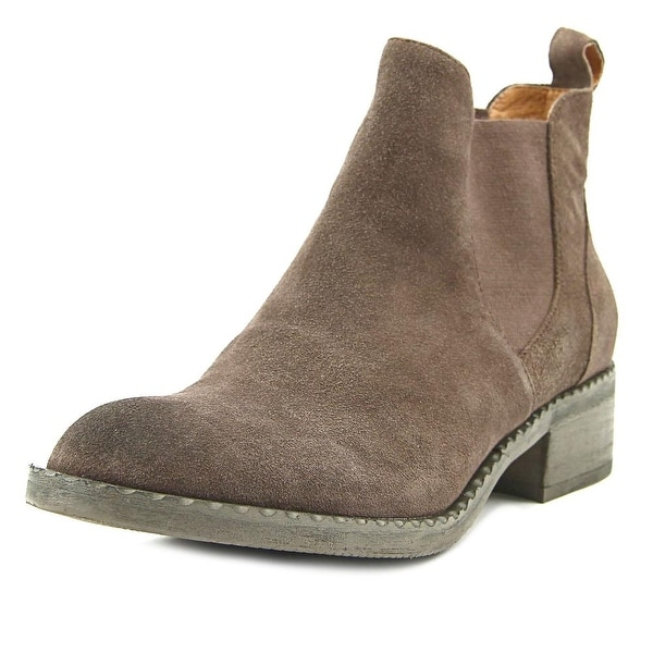 Gentle Souls Binx Women Round Toe Suede Brown Ankle Boot