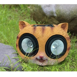 "KANSTAR 10"" Solar Powered Color Changing Garden Cat Light"