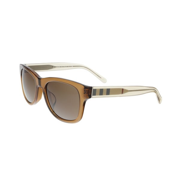 b0abaf2d87b0 Burberry BE4211F 3567 73 Clear Brown Rectangle Sunglasses - clear brown -  55-20
