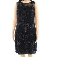 Lauren By Ralph Lauren Womens Sequin Sheath Dress