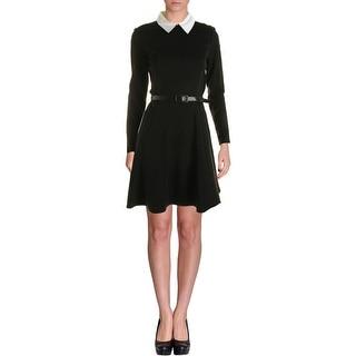 Lauren Ralph Lauren Womens Shirtdress Ponte Long Sleeves