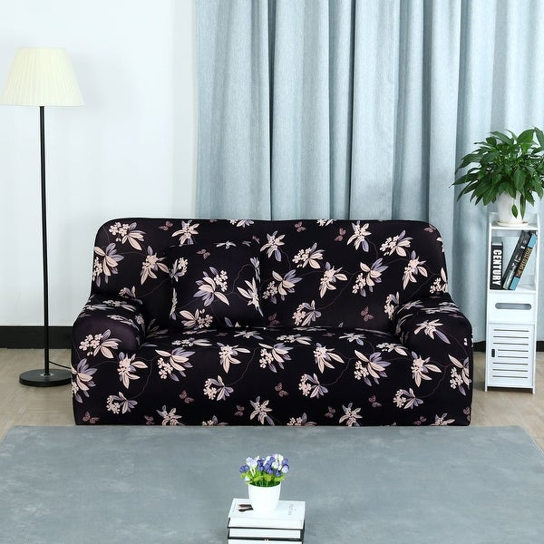 Unique Bargains Flower Pattern L Shaped Stretch Sofa Slipcovers (1 2 3  Seater)