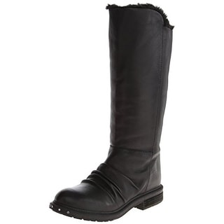 Naya Womens Raptor Knee-High Boots Leather Slouchy
