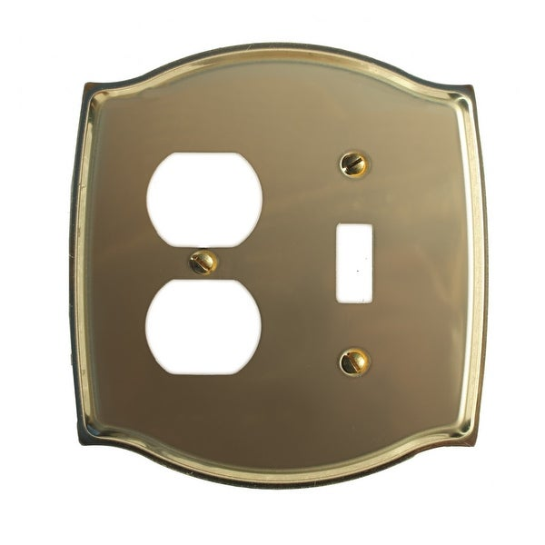 Switchplate Bright Solid Brass Toggle/Outlet | Renovator's Supply