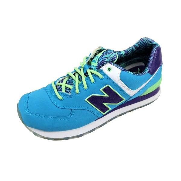 New Balance Women's 574 Blue/Purple WL574IPU Size 7