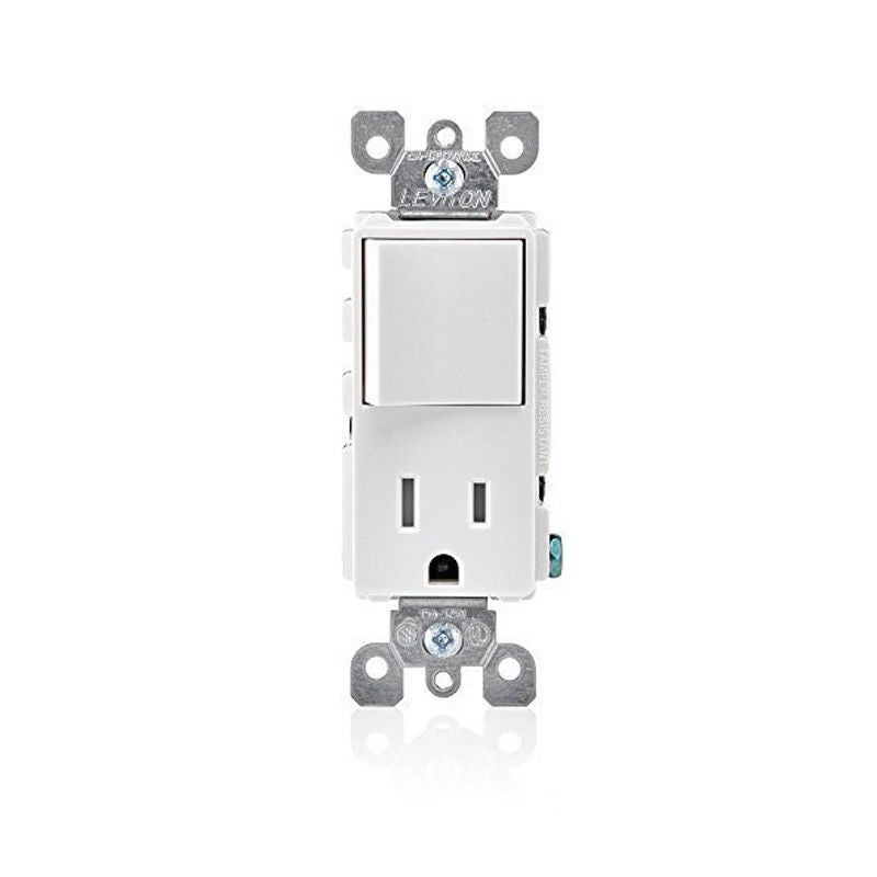 Leviton T5625-W Tamper-Resistant Decora Combination Switch & Receptacle/Outlet