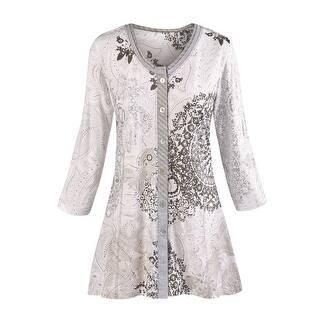 Women's Tunic Top - Mandala Gray Paisley Print Shirt|https://ak1.ostkcdn.com/images/products/is/images/direct/f554611ab2b3b2d9b5432f324331dd3bf07660d6/Women%27s-Tunic-Top---Mandala-Gray-Paisley-Print-Shirt.jpg?impolicy=medium