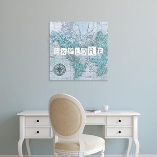 Easy Art Prints Studio W's 'Map Words VI' Premium Canvas Art