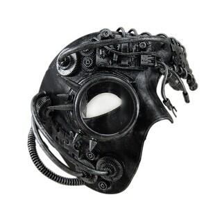 Dan Droid Steampunk Cyborg Spiked One Eyed Metallic Mask