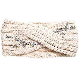 Mad Style Cream Crystal Vine Wide Headband