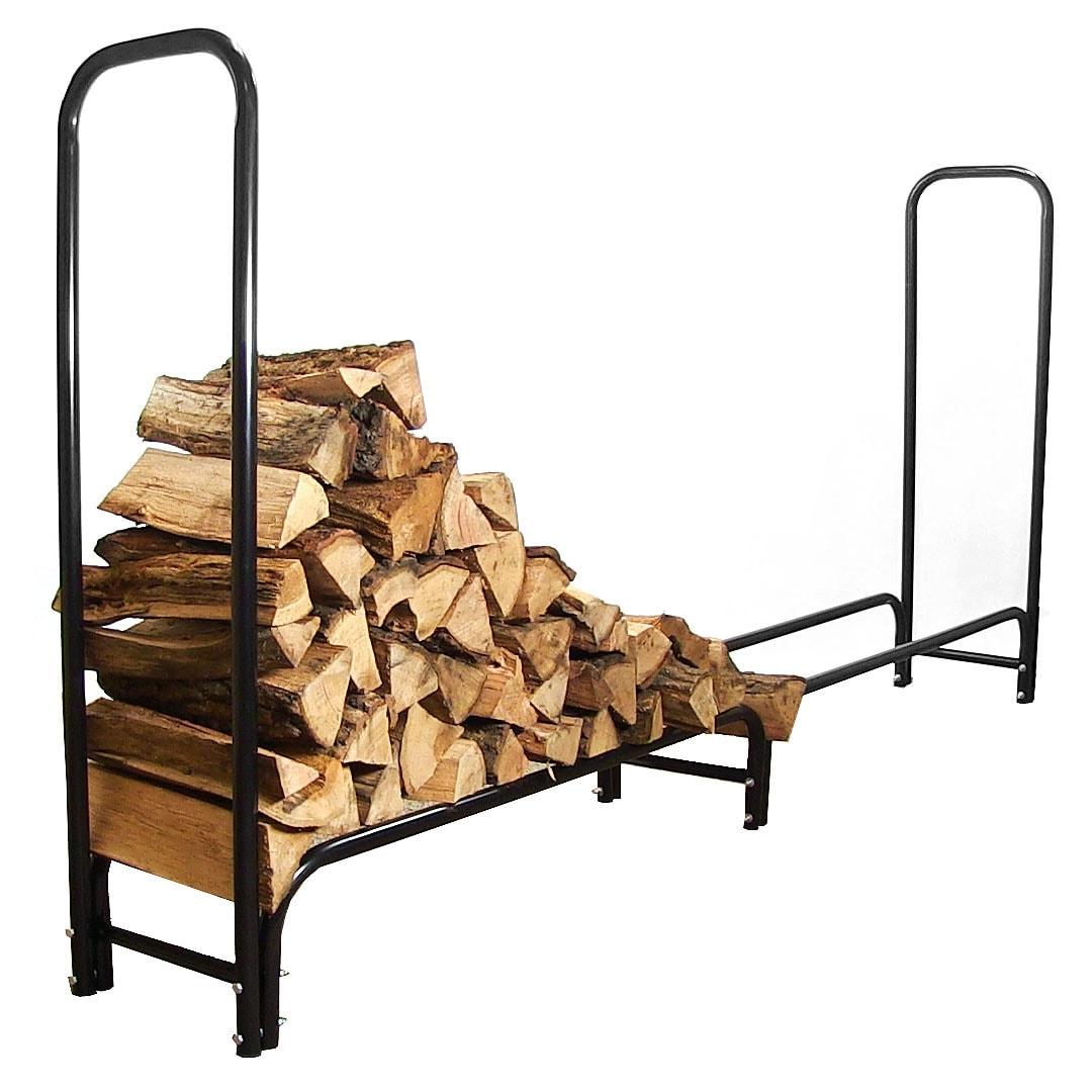 Sunnydaze Firewood Log Rack - Black - Thumbnail 2