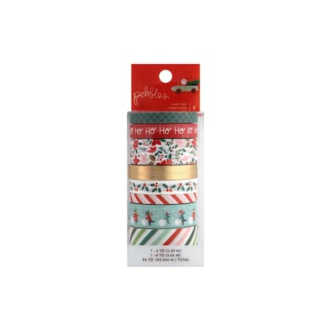 734151 pebbles ml christmas washi tape set foil gold