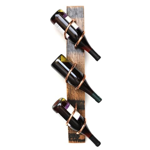Handmade Bourbon Stave Wine Rack (USA)