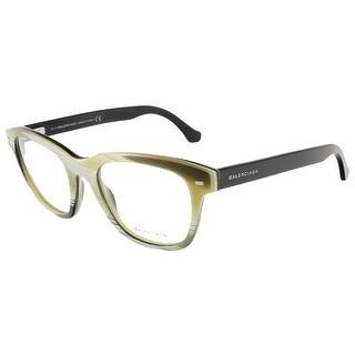 Balenciaga BA5011/V 064 Yellow Black Horn Square prescription-eyewear-frames