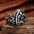 Vienna Jewelry Abstract Shield Emblem Stainless Steel Ring - Thumbnail 1