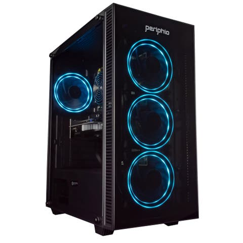 Periphio Gaming PC Quad Core i5 8GB 120 SSD 1TB Win 10 GeForce GTX 1650 Computer