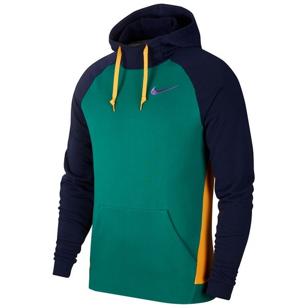Nike Mens Sweater Blue Green Size XL Colorblock Training Dri Fit Hooded. Opens flyout.