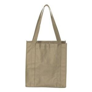 Non-Woven Classic Shopping Bag - Tan - One Size