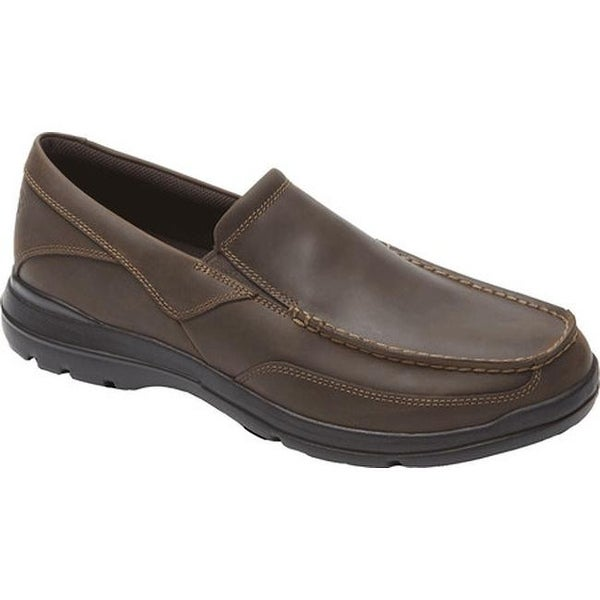 Rockport Men's City Play Two Slip On Dark Brown Leather