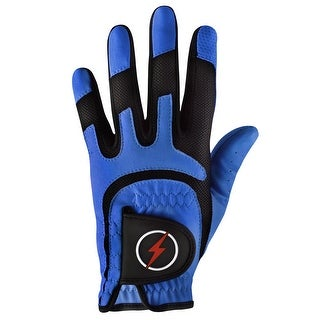 Powerbilt One-Fit Adult Golf Glove - Mens LH Blue/Black