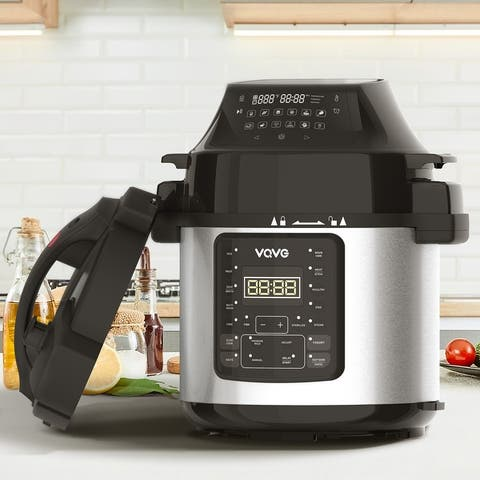 VQVG 6 Quart Electric Pressure Cooker Combo/Air Fryer Combo