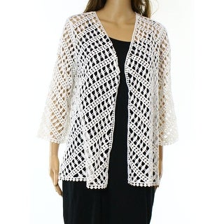 Alfani NEW Bright White Women's Size XL Open-Love Cardigan Sweater ...