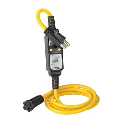 Leviton 3809571 14-3 Awg Residential Commercial & Light Industrial Thermoplastic Gfci Straight Blade Plug Yellow & Black