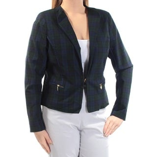 XOXO $69 Womens New 1074 Black Green Plaid Pocketed Jacket XL Juniors B+B