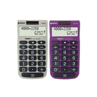 Teledex DH-2202X2 2-Line Track Back Handheld Calculator - Set of 2