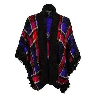 Ralph Lauren Women's Wool Blend Fringe Trim Cardigan Sweater - Multi