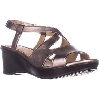 naturalizer Villette Slip On Wedge Sandals, Bronze