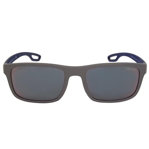 40d0b60f9ee Shop Prada Men s Linea Rossa Wayfarer Sunglasses PS03RS UR49Q1 56 ...