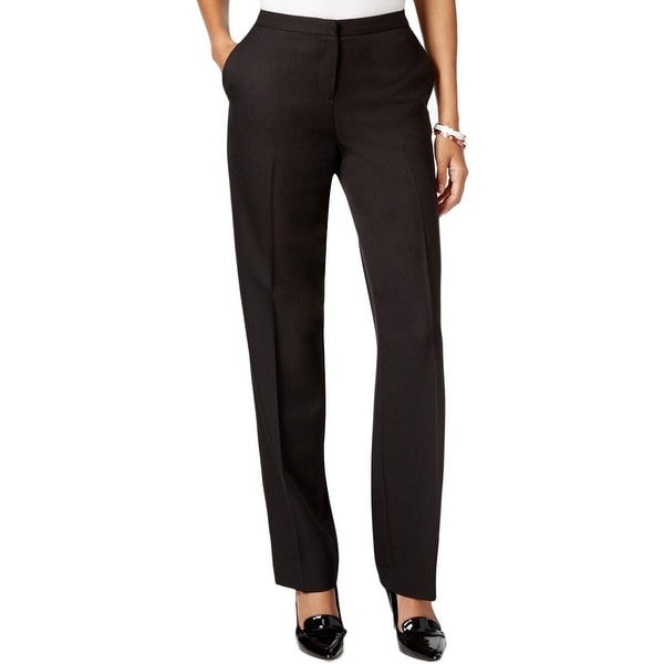 Tommy Hilfiger Womens Fairfield Trouser Pants Relaxed Fit Solid