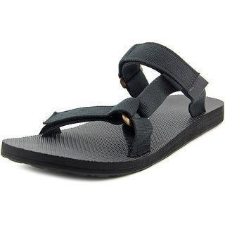 Teva Universal Slide Men Open Toe Canvas Black Slides Sandal