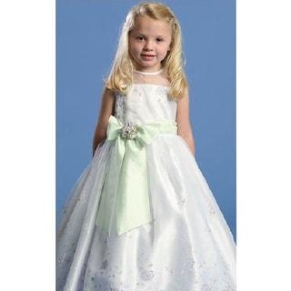 Angels Garment Green Satin Flower Girl Special Occasion Dress 2T-6