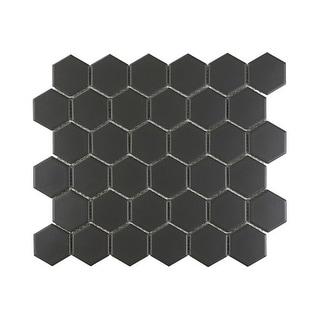 "Miseno MT-UT10112HEXMS1P Metropolitan Porcelain Mosaics - 2"" X 2"" - Hexagon Mosaic Wall Tile (Sold by Sheet)"