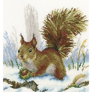 """Winter Morning Counted Cross Stitch Kit-8.75""""X8"""" 14 Count"""