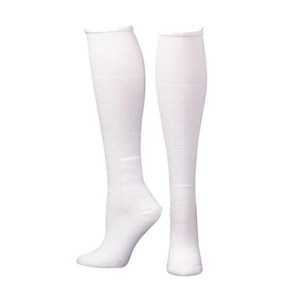 Boot Doctor Socks Mens Over Calf Comfort Reinforced White - L