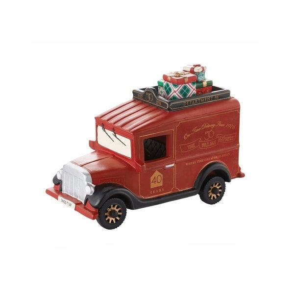 Department 56 Village Express Van - 40th Anniversary Porcelain Accessory #4050945 - RED