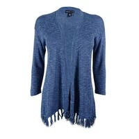 American Living Women's Fringed Cotton Blend Cardigan