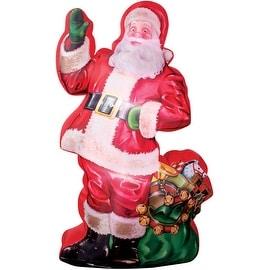 "Gemmy 38768 Airblown Santa With Bag Christmas Inflatable, 46.46"" X 29.53"" X 83.86"""