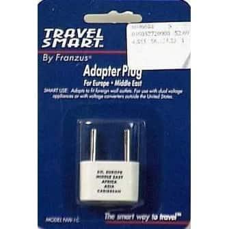 Franzus NW1C Travel Lite Adapter Plug, White
