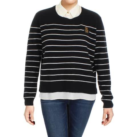 1c7b31cb0 Lauren Ralph Lauren Womens Lali Pullover Sweater Cashmere Layered