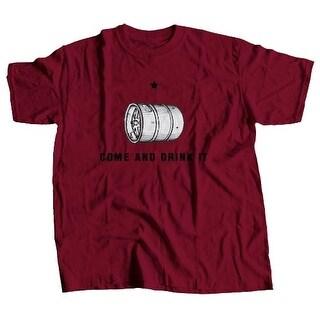 Kegerator.com 6210DRINKITCAR Come and Drink It T-Shirt - Cardinal