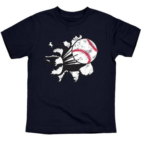 Baseball Tear Sports Action Pitcher Novelty Youth T-Shirt