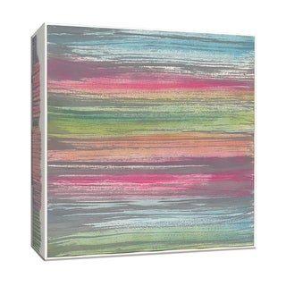 """PTM Images 9-153130  PTM Canvas Collection 12"""" x 12"""" - """"Sentiments Stripes I"""" Giclee Abstract Art Print on Canvas"""