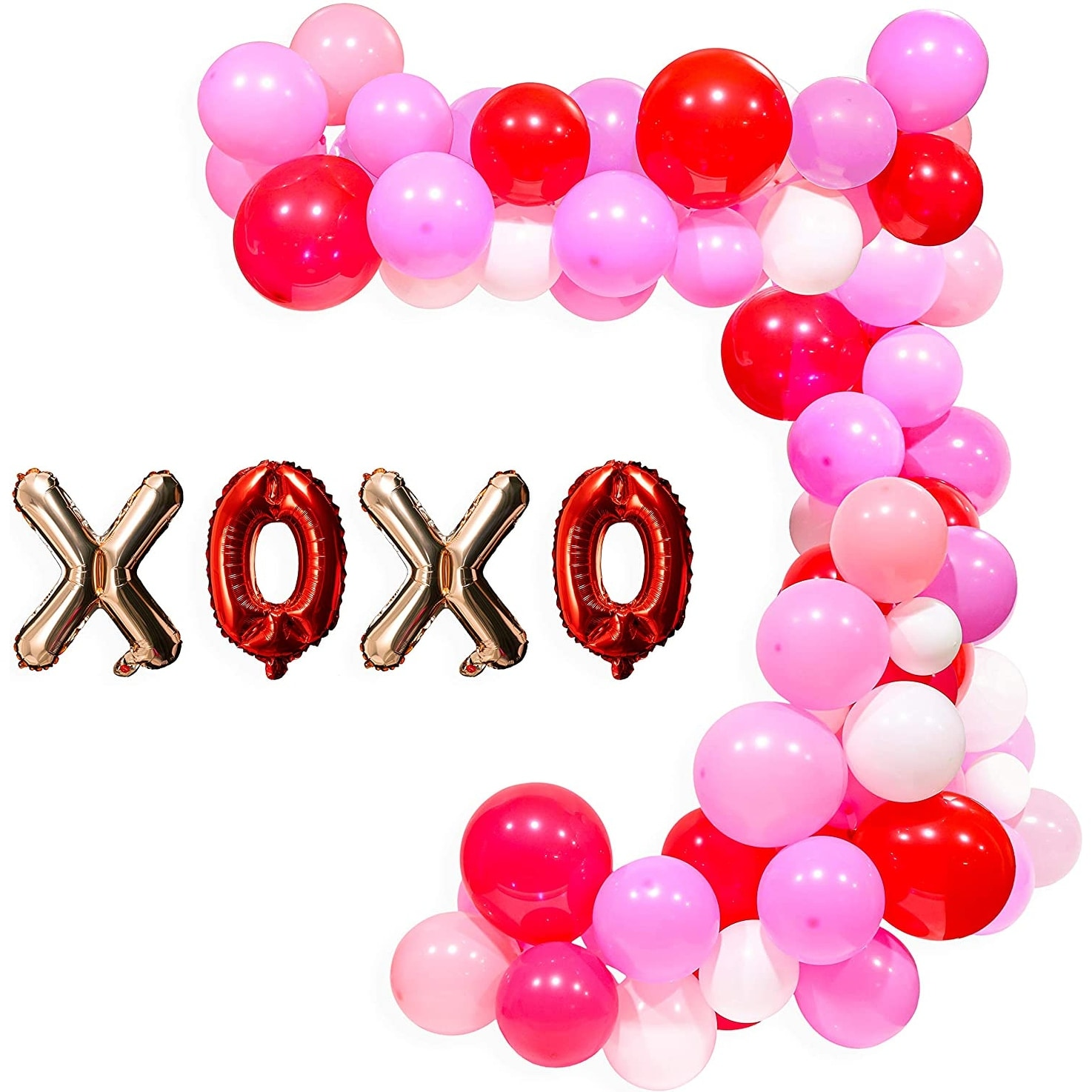 Garland /& Arch Kit 82 Pieces Latex Balloons Confetti Balloons Colorful Party Balloons for Christmas Valentines Day St 12 inch Red and Green Patricks Day
